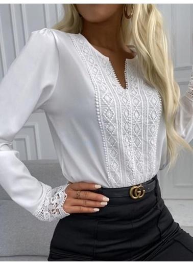 BLACK&GRACE Gömlek Beyaz